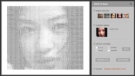Tu foto en ASCII con ASCII-o-matic