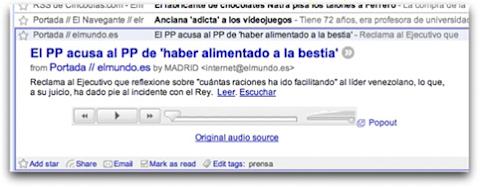 El PP se acusa a sí mismo en Google Reader