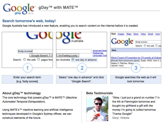 Buscar en el futuro con Google