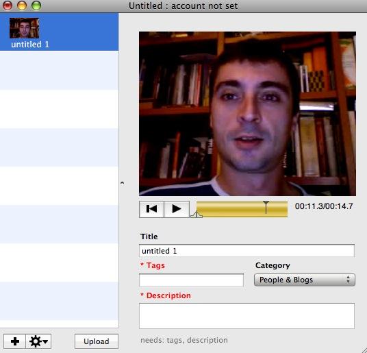 Vidnik, para grabar videos con la iSight y subirlos a YouTube