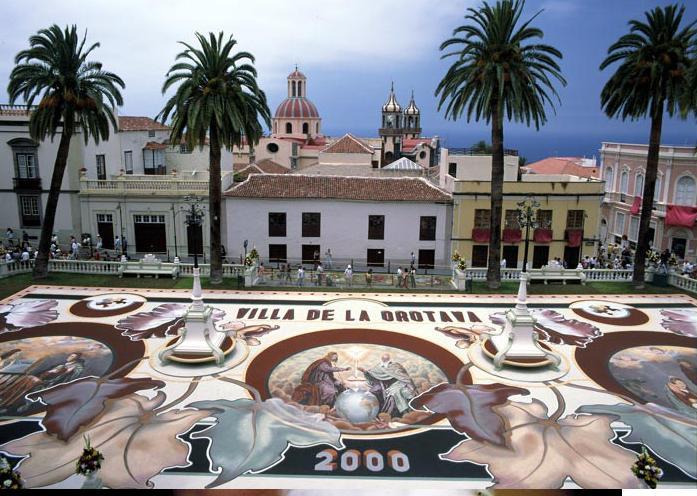 El tapiz de arena del Corpus de La Orotava