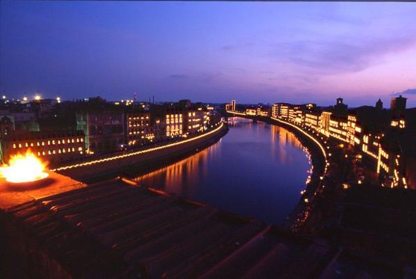 La Luminara de San Ranieri en Pisa 1