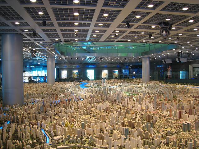 Maqueta del futuro Shangai