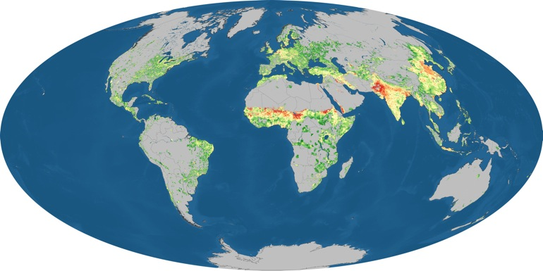 Mapa mundial de consumo de carbono
