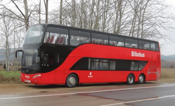 Bilbao estrena autobuses rojos dos pisos