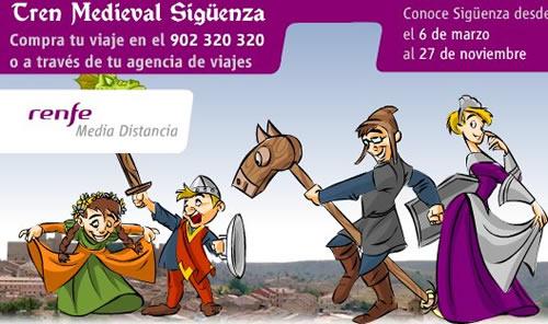 Empieza la temporada de otoño del Tren Medieval de Sigüenza
