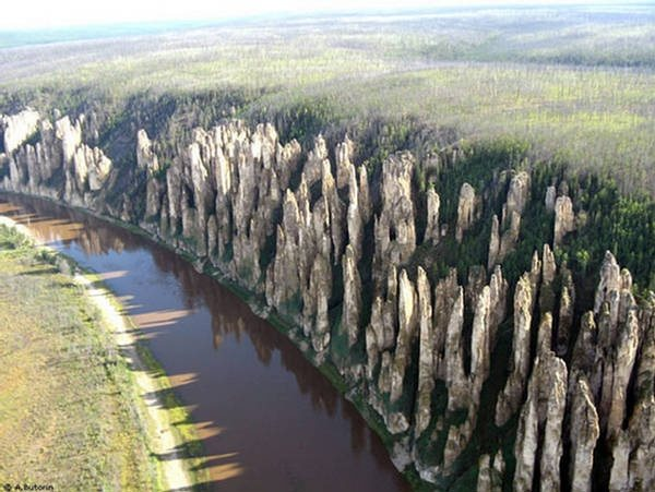 El Bosque de piedra del río Lena