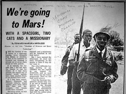 El programa espacial de Zambia