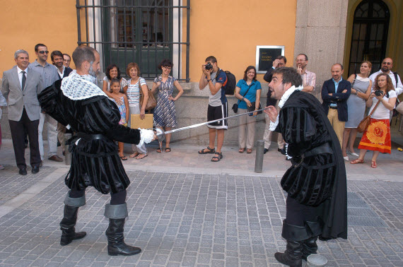 Visitas teatralizadas Madrid crímenes, anécdotas palaciegas capitán Alatriste
