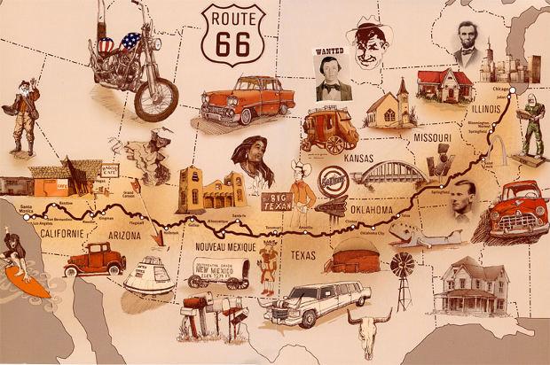 La mítica Ruta 66 (Route 66)