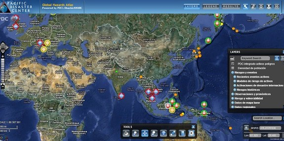 Global Hazards Atlas, un mapa interactivo para seguir los desastres naturales en tiempo real