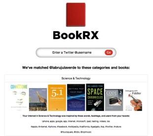 BookRX te recomienda libros basándose en tus tweets