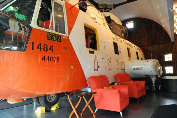 Winvian, alojarse helicoptero