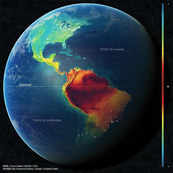 mapa biodiversidad sudamerica