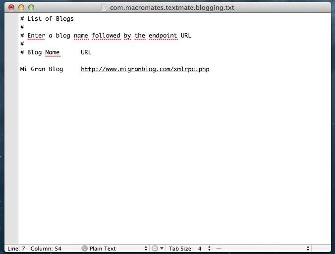 Textmate Setup