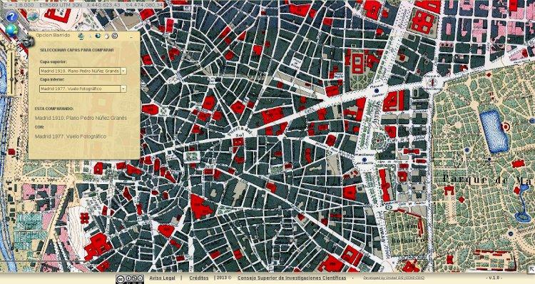 HISDI MAP mapa digital histórico Madrid