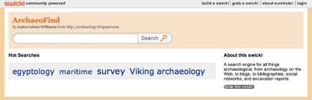 ArchaeoFind, un buscador sobre arqueología