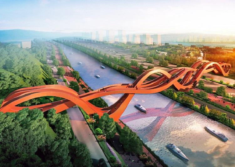 Un puente chino inspirado en las matemáticas