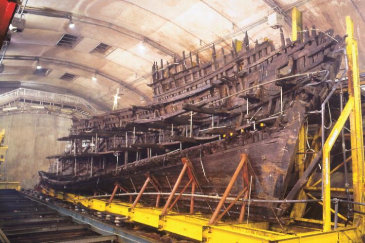 Visita al Mary Rose en Inglaterra