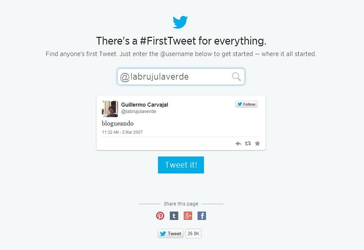 Twitter celebra su 8º anivesario con una herramienta para conocer nuestro primer tuit