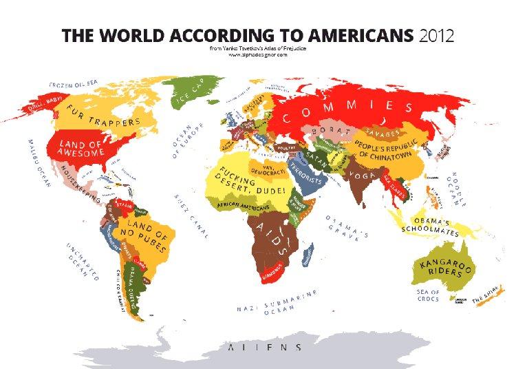 Los mapas de estereotipos de Yanko Tsvetkov
