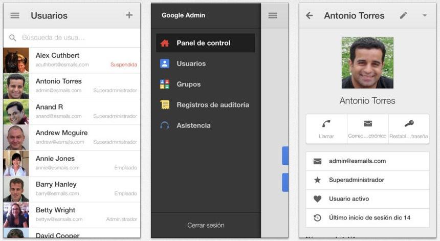 Google Admin para iOS: gestiona tu dominio de Google Apps