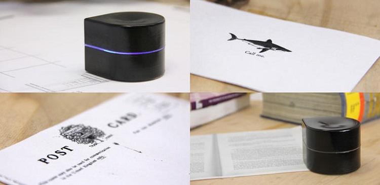 Un mini robot impresora que imprime mientras se mueve por el papel