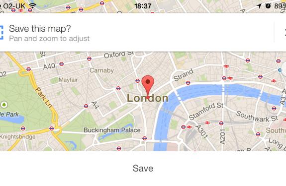 La aplicación Google Maps se actualiza y podremos guardar mapas para consultarlos offline 1
