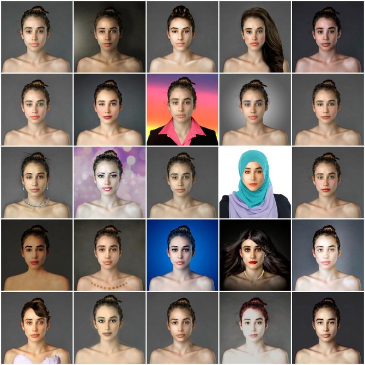 Cánones de belleza de todo el mundo a través del retoque de una foto