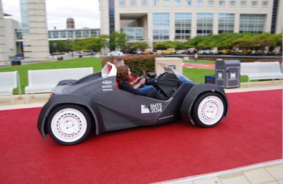 Strati, el primer coche fabricado con impresora 3D