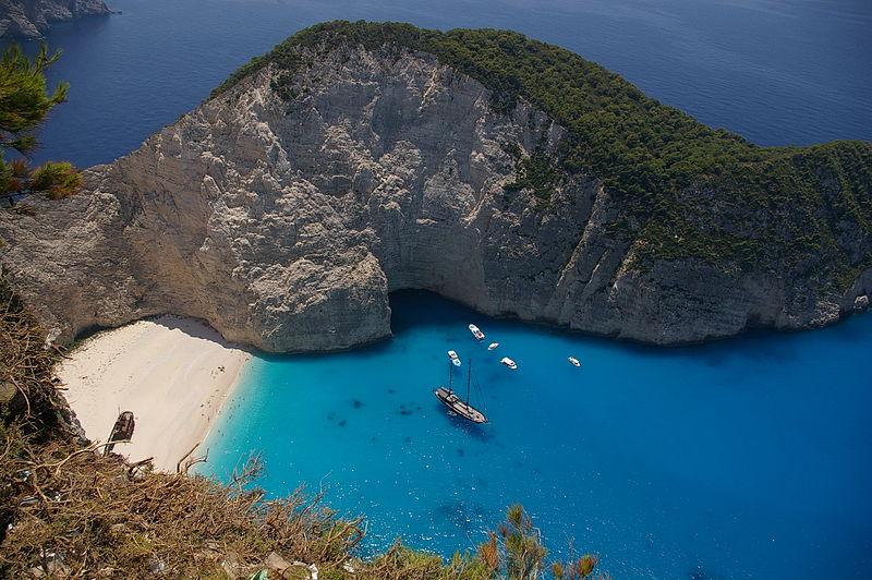 Bahía Navagio, la playa más bonita de la isla de Zante