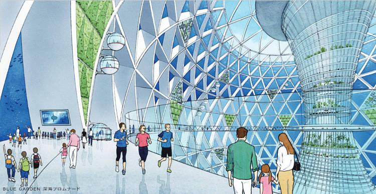 Ocean Spiral proyecto japones ciudad submarina 3