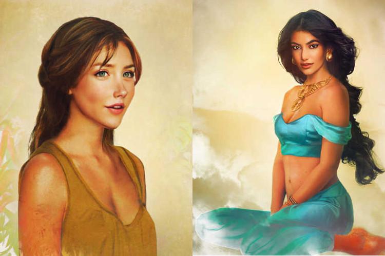 una versi u00f3n realista de los personajes femeninos de disney