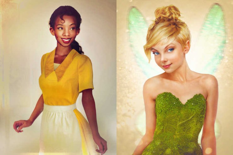 Version realista personajes femeninos Disney 5