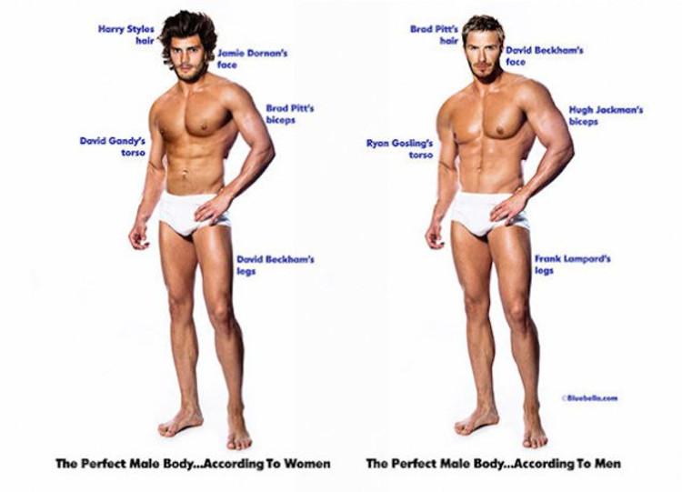 Cómo sería cuerpo perfecto según hombres mujeres 2