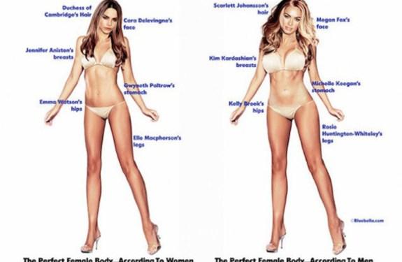 Cómo sería el cuerpo perfecto, según hombres y mujeres 1