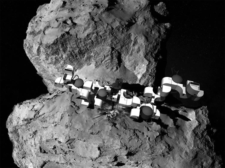 Un concepto propone construir estaciones espaciales en cometas para viajar por el espacio 3