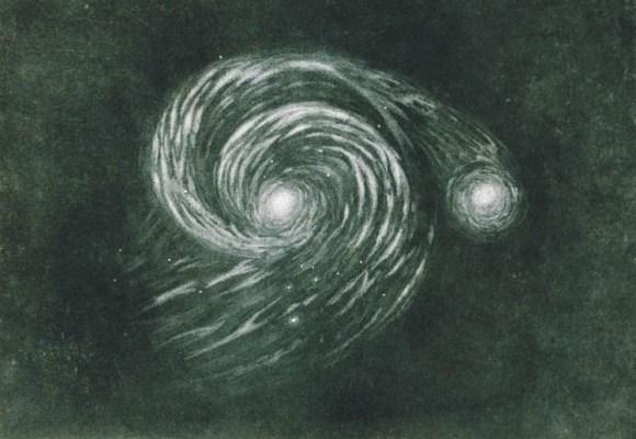 Pinto Van gogh galaxia Noche estrellada 2