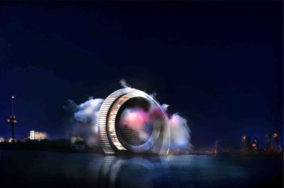 The Dutch Windwheel edificio futurista Roterdam 3
