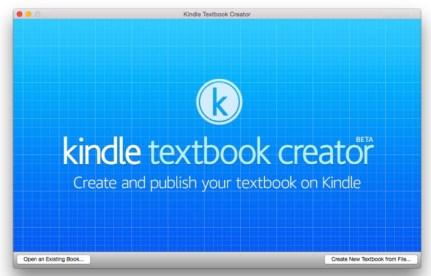 Publica tu libro de texto con Amazon Kindle Textbook Creator