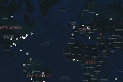 Mapa interactivo de avistamientos de OVNIs desde 1933