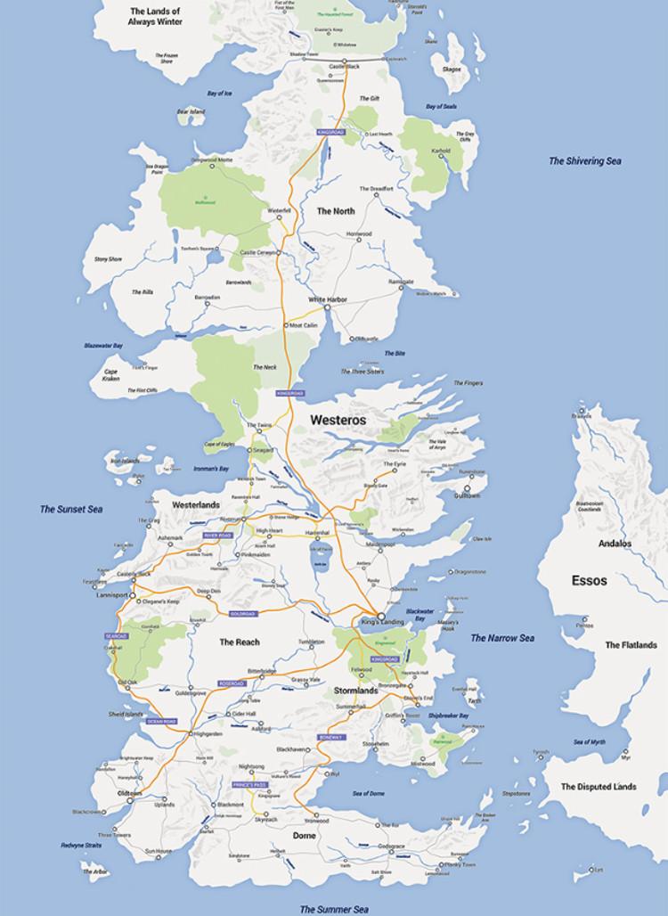 Google Maps Juego Tronos 2