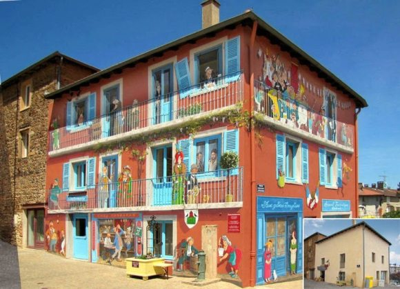 Patrick Commecy artista da vida fachadas francesas 6