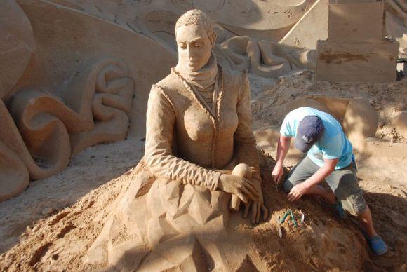 Mayor festival mundial escultura arena Portugal 1