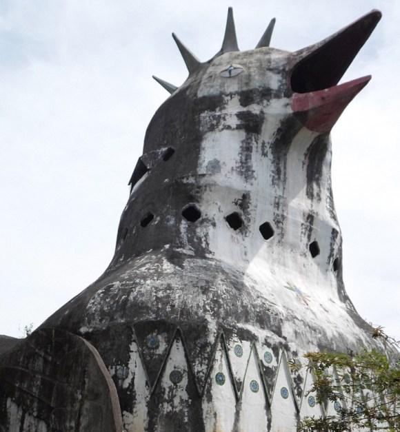 Extraña paloma arquitectonica indonesia 1