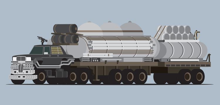 Estramboticos vehiculos Mad Max vistos ilustrador Scott Park 2