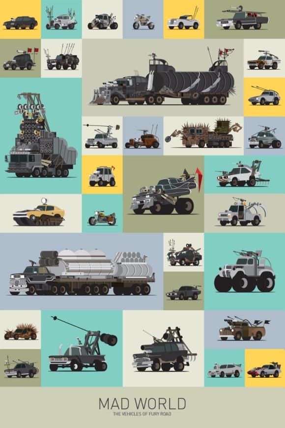 Estramboticos vehiculos Mad Max vistos ilustrador Scott Park 5