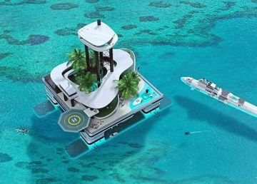 Kokomo Ailand isla privada artificial transportable