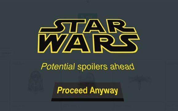 Aplicacion bloquear spoilers Star Wars despertar Fuerza