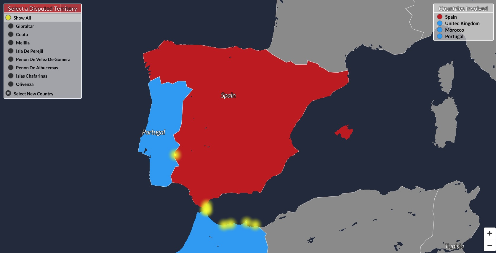Un mapa interactivo con todas las disputas territoriales del mundo